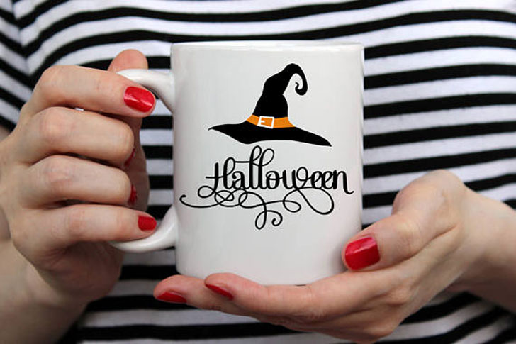 Witch's Hat Halloween Mug