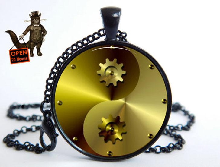 Yin Yang Steampunk Pendant