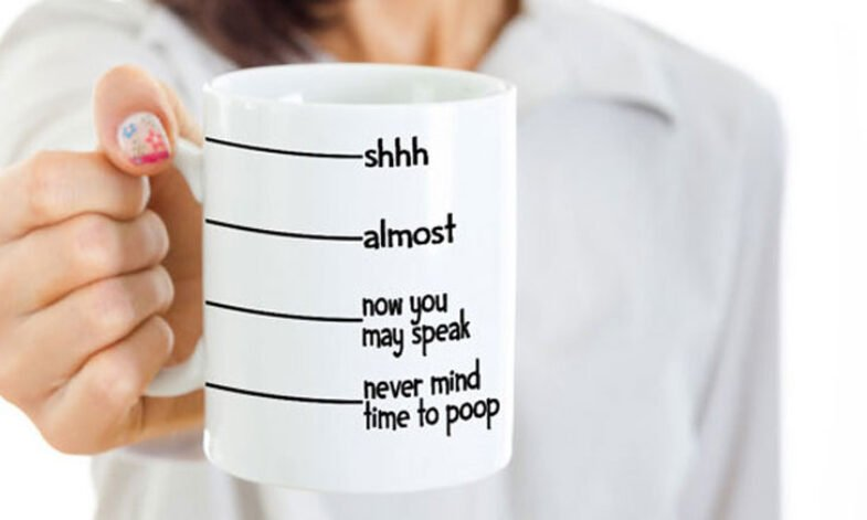 Funny Coffee Mug Time To Poop  Funny Mens Gift For Men Personalized For Him