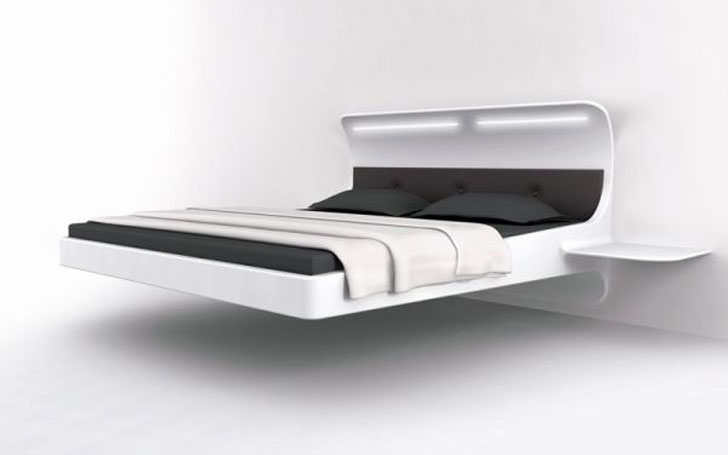 The Levitating Bed - a floating bed is one of the coolest beds