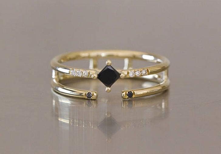 Alternative Black Diamond Engagement Ring