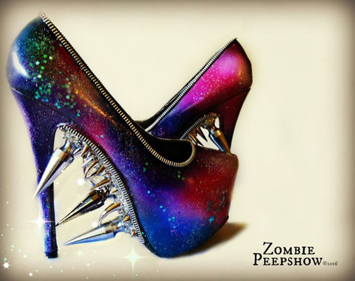 American Psycho Studded Ankle Boot Heels