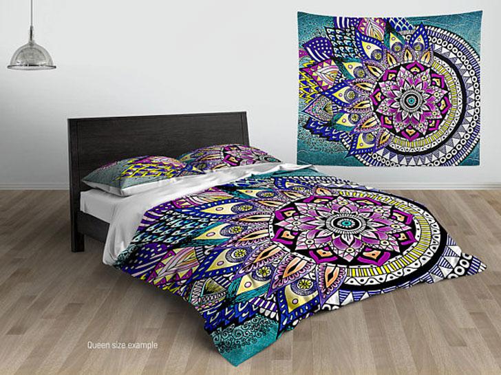 Asymmetric Bohemian Mandala Duvet Cover