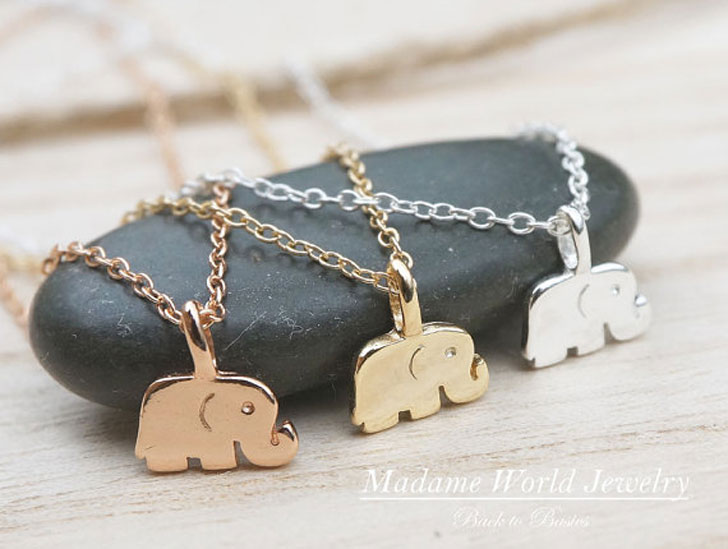 Baby Elephant Good Luck Amulet Necklaces