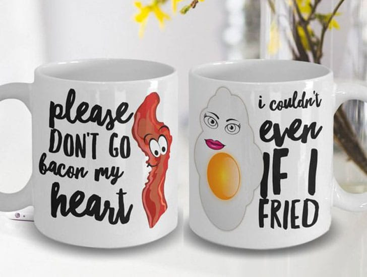 Bacon & Eggs Couples Mugs Set
