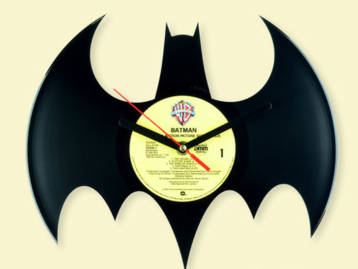 Batman Vinyl Record Wall Clock