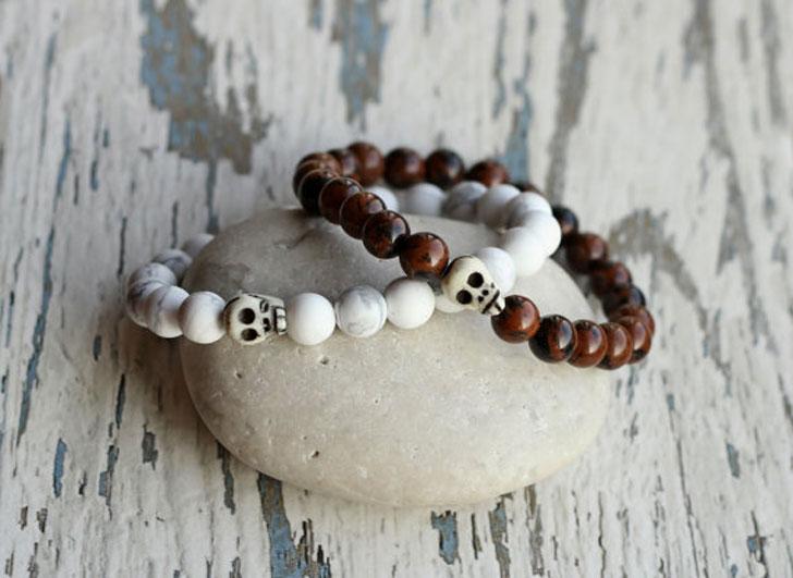 Beaded Skull Friendship Bracelets - Best Friend Bracelets