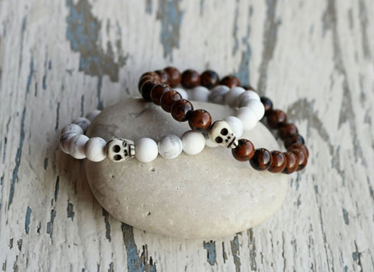 Beaded Skull Friendship Bracelets - Best Friend Bracelets