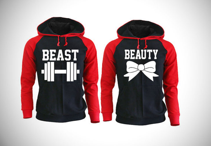 Beautyand Beast Couples Hoodies