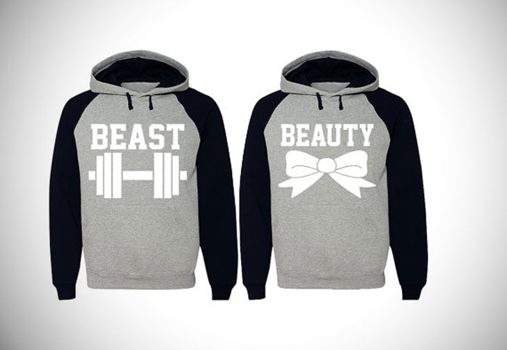 Beauty and Beast Couples Hoodies