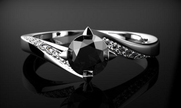 Black Diamond Engagement Rings