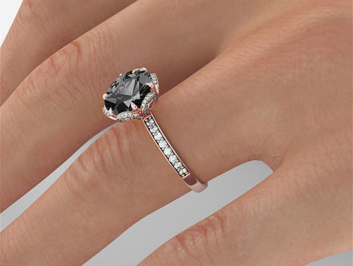 products black diamond engagement working natural carat jewellery ring studio point pear no