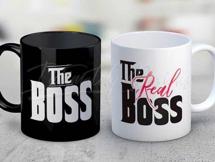 Boss and The Real Boss Mug Set