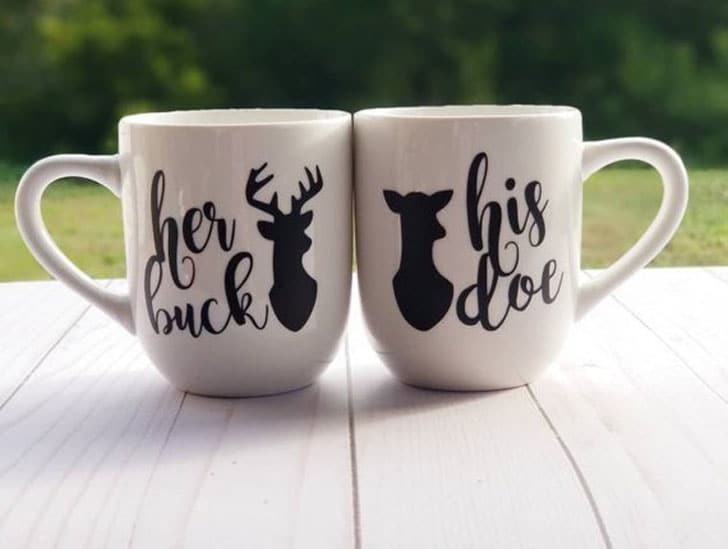 Buck And Doe Couples Mugs