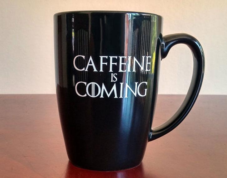 Caffeine Is Coming Coffee Mug