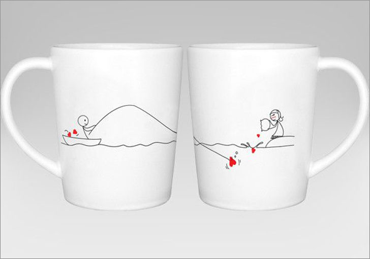 Catch My Heart Coffee Mug Set