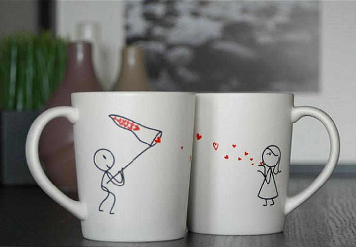 Catch My Love Boyfriend Mug Set