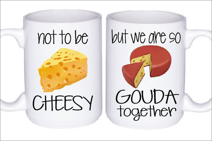 Cheesy Couples Mug Set