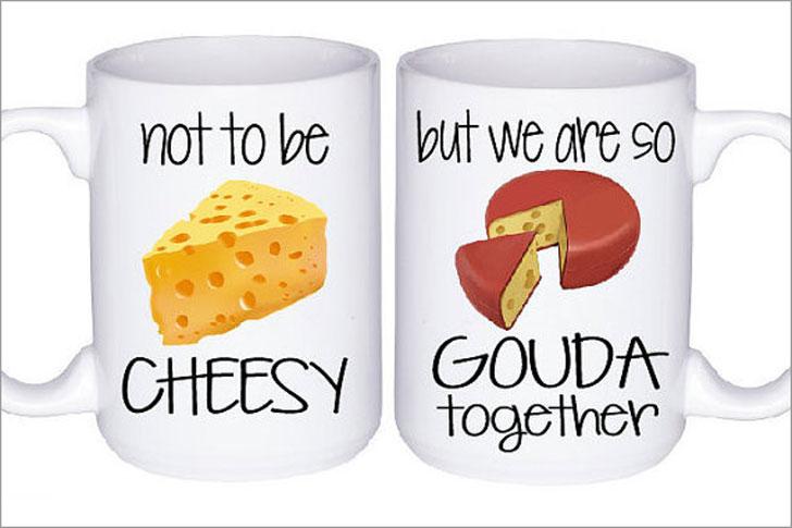 Cheesy Couples Mug Set