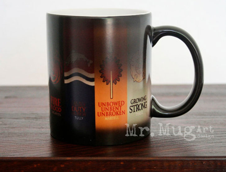 Color Changing Game Of Thrones Houses Mug