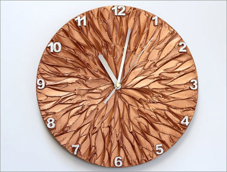 Copper Art Wall Clock - unique wall clocks