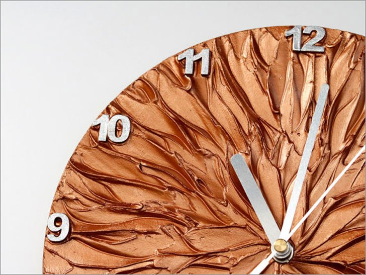 Copper Art Wall Clock
