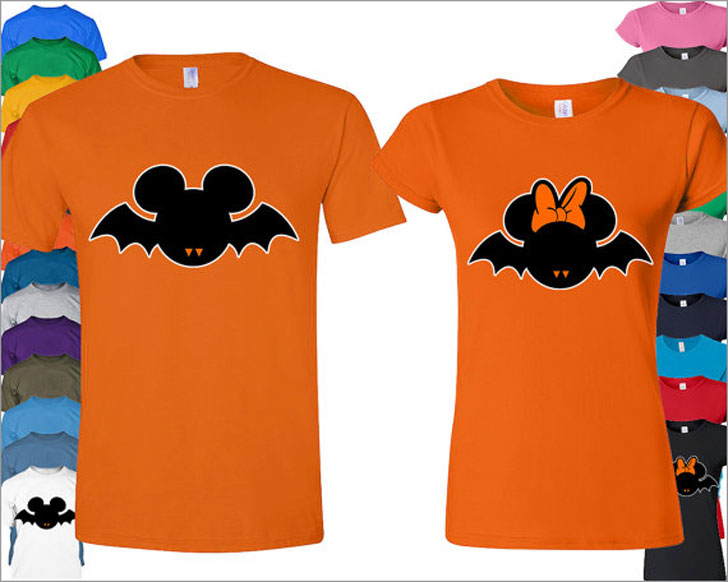 Couples Disney Halloween T-Shirts for Adults