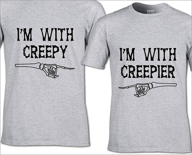 Creep and Creepier Couples Funny Halloween T-Shirts