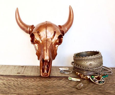 Custom Color Faux Taxidermy Cow Skulls