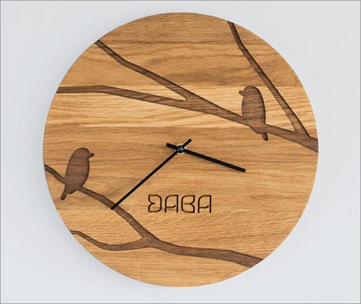 Custom Engraved Wooden Wall Clocks