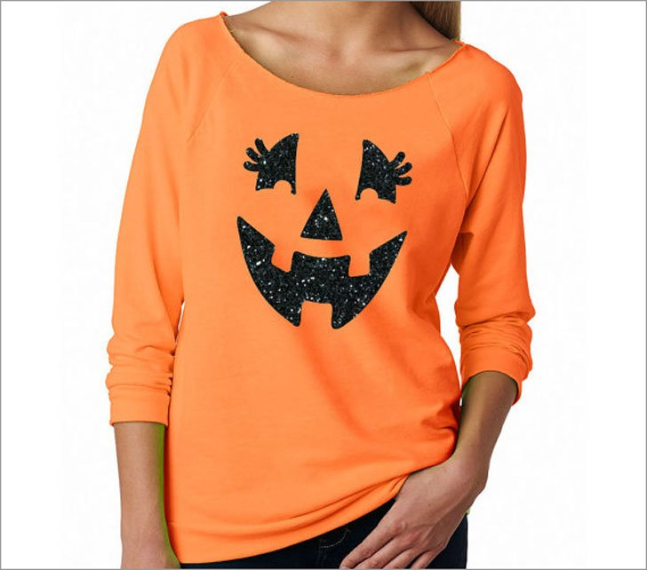 Cute Pumpkin Face Jack O Lantern Halloween T-Shirt