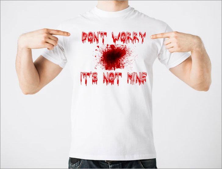 Don't Worry Its Not Mine Blood Splatter Halloween T-Shirt