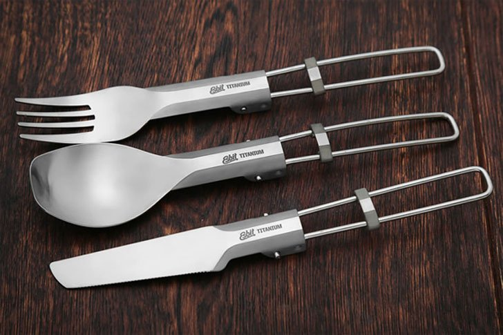 Esbit Lightweight Folding Titanium Utensils