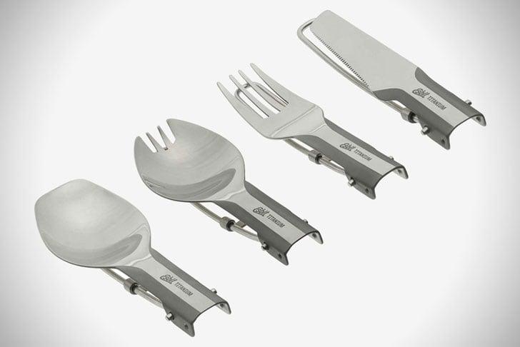 Esbit Lightweight Folding Titanium Utensils