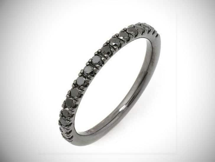 Eternity Black Diamond Wedding Band in 14k Gold