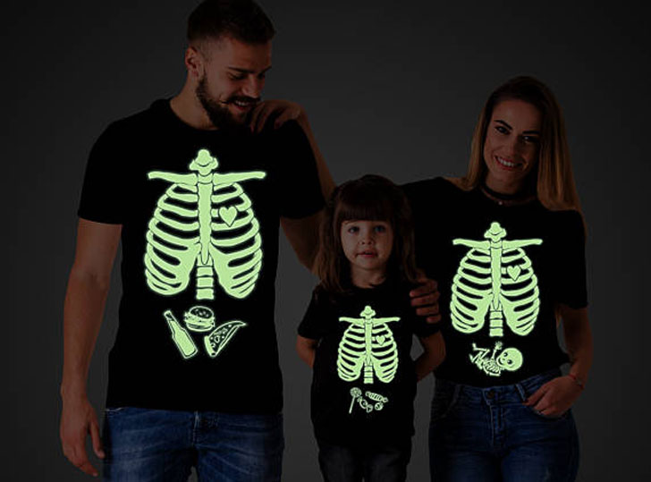 Funny Skeleton Glow In The Halloween T-Shirts