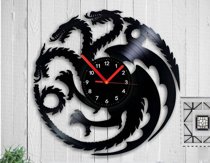 Game Of Thrones Vinyl Record Wall Clock