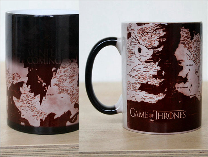 Game of Thrones Map Heat Sensitive Color Changing Coffee Mug