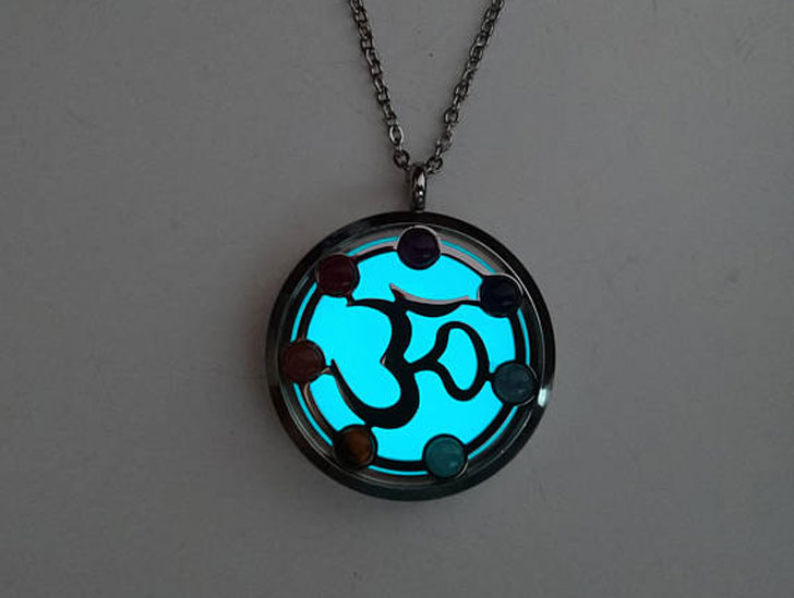 Glow In The Dark Ohm Good Luck Necklace