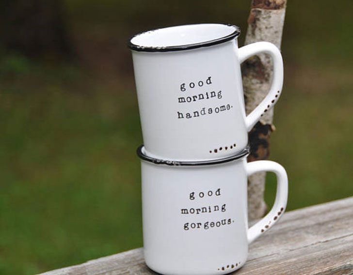 Good Morning Handsome And Gorgeous Mug Set