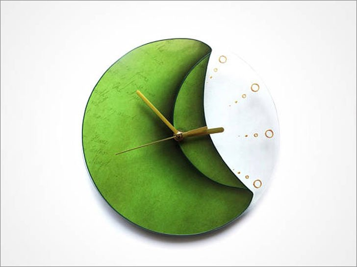 Green Peel Wall Clock