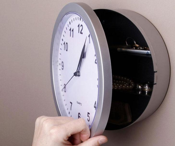 Hidden Safe Wall Clock