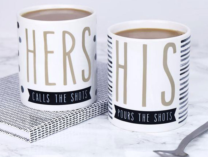 His & Hers Couples Mugs