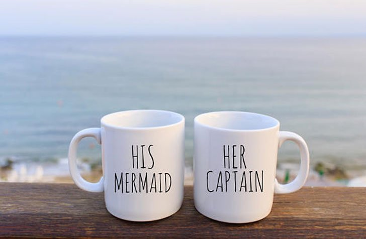 His Mermaid Her Captain Couples Mugs