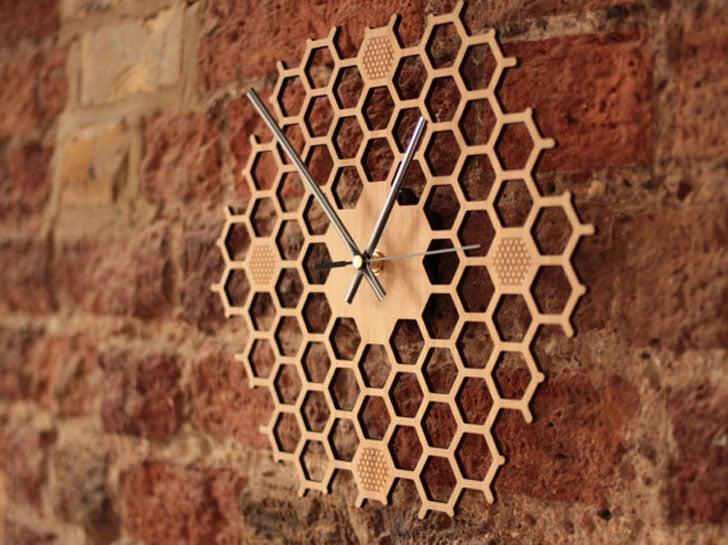 HoneyComb Wall Clock - unique wall clocks