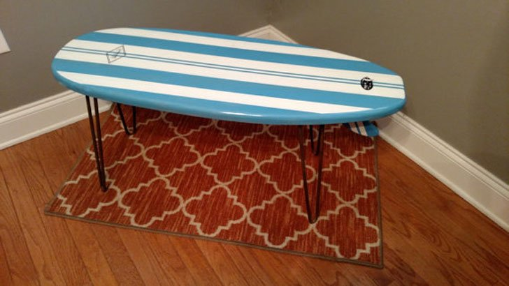 Kids Surfboard Coffee Table