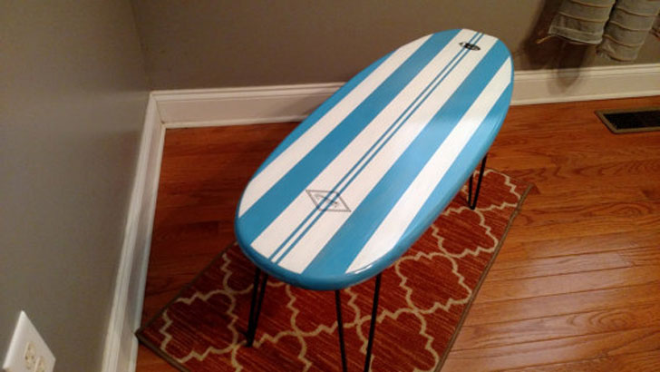 Kids Surfboard Coffee Table