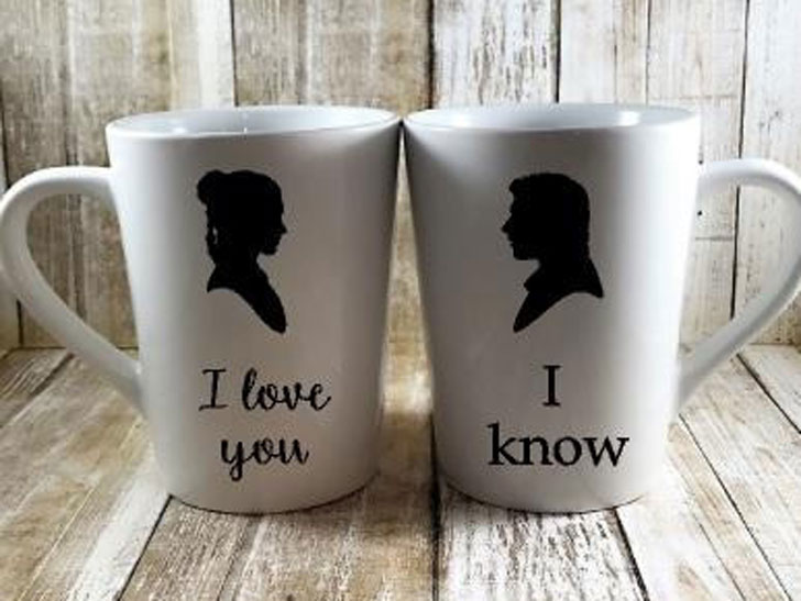 Leia and Han Solo Mug Set