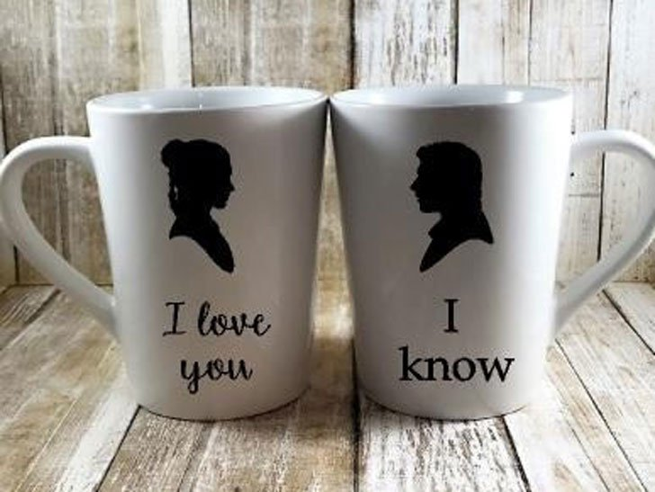 Leia and Han Solo Mug Set