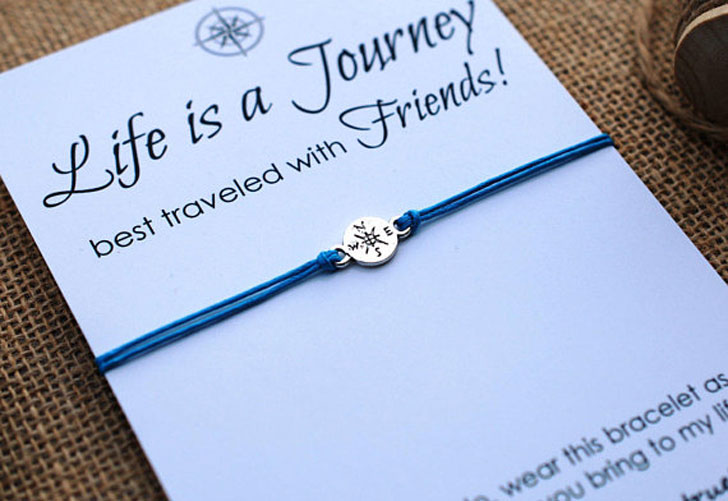 Life Is a Journey BFF Travel Bracelets